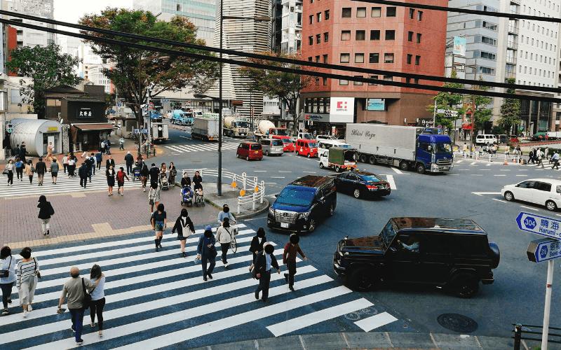 俺のBakery&Cafe 東銀座歌舞伎座前2階Cafeから見た景色