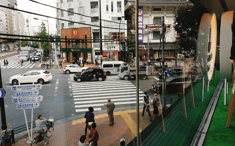 俺のBakery&Cafe 東銀座歌舞伎座前 2階Cafeからの景色