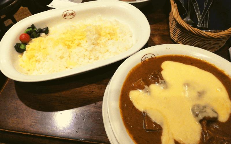 ボンディ芝浦店・ビーフカレー(チーズのせ)