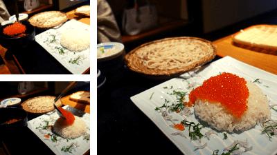 池袋・彩蔵ランチ「山盛りいくら丼+手打ち蕎麦」980円