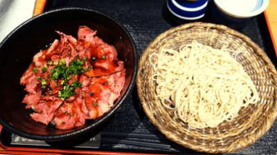 池袋・彩蔵ランチ「ローストビーフ丼+手打ち蕎麦」980円