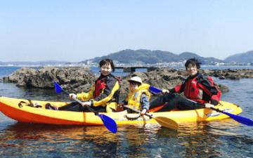 神奈川・葉山「無人島カヤックツアー(2時間30分ファミリー向け)」