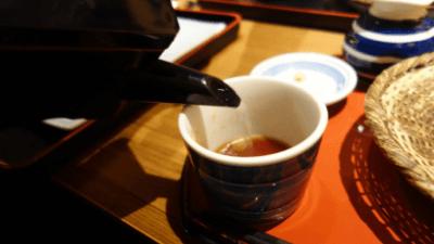 池袋・彩蔵ランチ・手打ち蕎麦の蕎麦湯