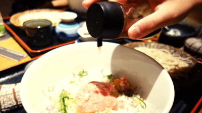 創作酒庵 彩蔵 池袋サンシャイン通り店「ネギトロ丼+手打ち蕎麦」