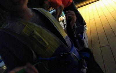 横浜八景島シーパラダイス・花火シンフォニア「花火観覧貸切ボート」ライフジャケット着用