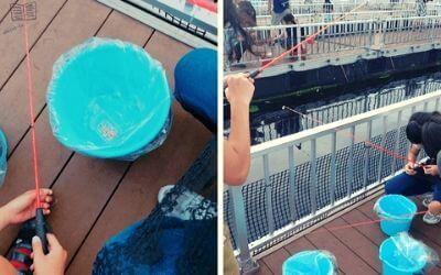 うみファーム・魚釣り準備