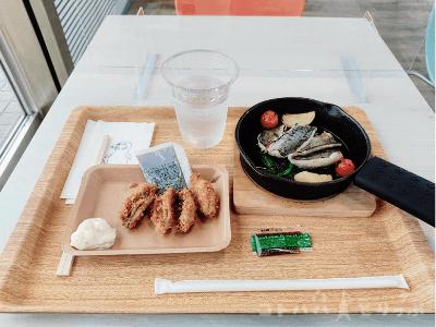 横浜・八景島シーパラダイス「うみファームキッチン」アジ(フライ&グリル)